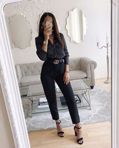 Work outfit professional - Outfits for Work Summer Work Outfits, Casual Work Outfits, Business Casual Outfits, Work Attire, Work Casual, Outfit Work, Office Attire, Formal Outfits, All Black Outfit For Work