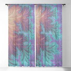 Kaleidoscope Sheer Curtain Fractal Art, Fractals, Home Staging, Unique Art, Northern Lights, Curtains, Design, Home Decor, Blinds