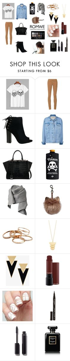 """""""Sans titre#163"""" by musicloverj1 ❤ liked on Polyvore featuring AG Adriano Goldschmied, Fendi, Acne Studios, Kendra Scott, Gorjana, Yves Saint Laurent, Smith & Cult, Chanel and Maybelline"""