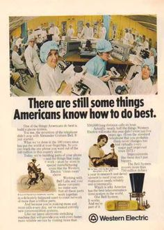 Western Electric Bell System – History on Bell System Vintage Telephone, Old Phone, Old Ads, Vintage Ads, 1970s, Phones, Electric, Advertising, Memories