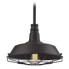 Elk Lighting Warehouse Pendant Oil Rubbed Bronze Pendant Light with Bowl / Dome Shade