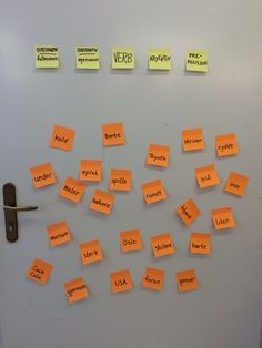 PY 5 - Uke 3: 5. klasse jobber med ordklasser i stasjonsundervisnig. Morsom sorteringsaktivitet med Post-its lapper som er rask og enkel å lage og kan brukes overalt!