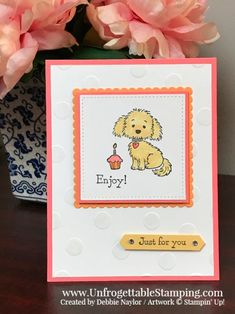 Unfrogettable Stamping | Fabulous Friday Color Combo card featuring the Bella & Friend's stamp set from Stampin' Up!