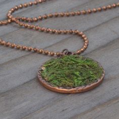 Moss Necklace Eco friendly Moss Pendant Terrarium by jensbackyard
