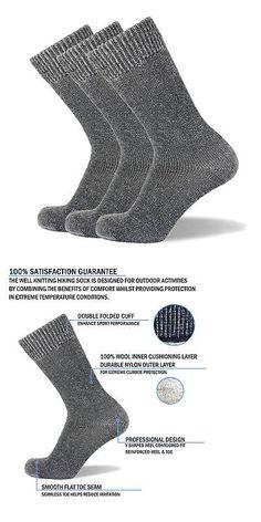 Socks 181362: Well Knitting Mens Heavy Duty Merino Wool Blend Outdoor Working Hiking Socks ... -> BUY IT NOW ONLY: $35.29 on eBay!
