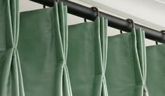 FRENCH PLEATS shown in photo - French is the classic and can work in all types of rooms. Pleat Talk: easy crash course for buying drapes. Drapery Styles, Drapery Designs, Curtain Styles, Drapery Ideas, Drapes And Blinds, Drapery Panels, Drapes Curtains, French Pleat, Custom Drapes