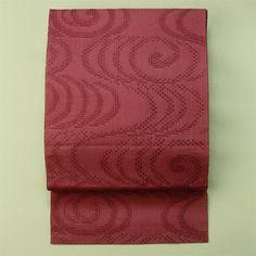 Chic pink, zentsu hassun, vintage summer nagoya obi / 渋いピンク系流水柄化繊羅の全通柄八寸夏物
