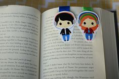 Eleanor and park magnetic bookmark by Magicbookmarks on Etsy