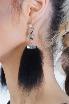 Céleste $49  #earring #jewelry #fashion #fur #recycledfur #fashion #ecofriendly #canadianfashion
