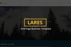 Lares - One-Page Business Template. Bootstrap Themes. $8.00