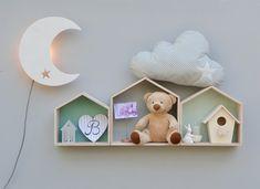 ANABEL art-home Estanterías de madera con forma de Casita. Nichoirs étagère
