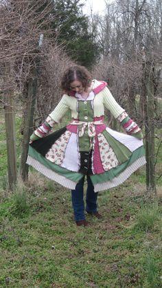 Upcycled Sweater Coat  Elf Coat  Gypsy Coat  by raggletagglemolly, $215.00