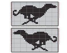Pattern - cross-stitch, or could be used for filet crochet Fair Isle Knitting Patterns, Knitting Charts, Knitting Stitches, Free Knitting, Filet Crochet, C2c, Cross Stitch Charts, Cross Stitch Patterns, Cross Stitching