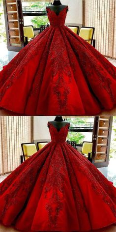 homecoming kleider Prom Dresses Ball Gown, 2019 Prom Dresses, Lace Homecoming Dresses, Homecoming D. Red Ball Gowns, Ball Gowns Prom, Ball Gown Dresses, Prom Dresses, Royal Ball Gowns, Evening Dresses, Red Gowns, Royal Dresses, Bridesmaid Gowns