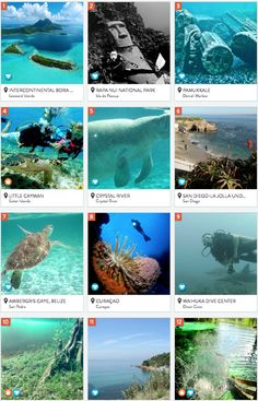 An excellent collection of the best underwater travel destinations.