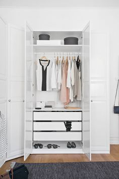 Full five wardrobes in white smart angle