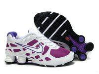 hot sale online 6a1b1 70310 chaussures nike shox turbo+noir net femme (pourpre blanc) pas cher en