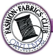 Fashion Fabrics Club..... Discount fabrics... I mean it's not like I already have tons in my fabric hoard---er stash or anything..... :P