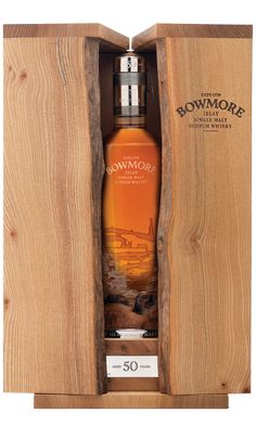 ***Bowmore 50 year old Islay single malt Scotch Whisky Cigars And Whiskey, Scotch Whiskey, Bourbon Whiskey, Whiskey Girl, Bourbon Drinks, Vodka, Tequila, Beverage Packaging, Bottle Packaging