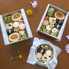 Kawaii Cookies, Cute Cookies, Cookie Box, Cookie Gifts, Icebox Cookies, Homemade Sushi, Cookie Packaging, Food Decoration, Biscuit Cookies