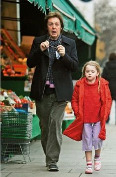 Paul McCartney with his youngest daughter Beatrice.