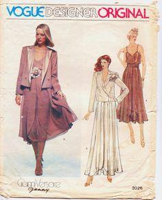 1970s Vogue Designer Original Pattern 2026 Gianni by CloesCloset, $30.00