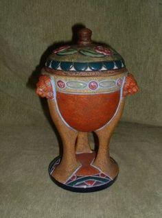 Art Nouveau Unusual Amphora Pot Vase