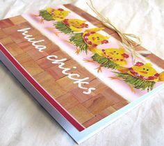 Hula Chicks Greeting Card Blank Inside 5x7 by HulaSistas on Etsy