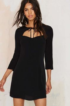Nasty Gal Tied You Over Mini Dress - Black | Shop Clothes at Nasty Gal!