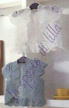 lo spazio di lilla: Bolerino-gioiello lavorato a filet / Crochet filet bolero, free pattern