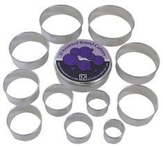 R  M Set of 11 Round Pastry Cutters Set Assorted * Check this awesome product by going to the link at the image.