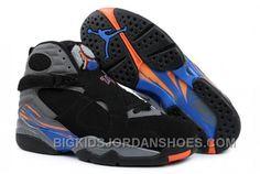 new product 05666 f680a Nike Air Jordan 8 VIII Homme Noir Gris Bleu
