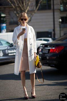 Paris Fashion Week FW 2015 Street Style: Elena Perminova