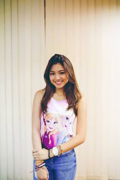 Let it goooo, let it goooo! Nadine Lustre Ootd, Asian Celebrities, Celebs, Lady Luster, Beauty Around The World, Jadine, T Shirts For Women, Clothes For Women, Best Actress