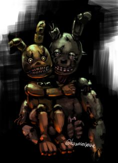 Springtrap with Plushtrap