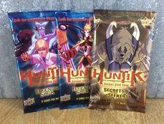 a x3 huntik sealed booster packs trading cards legendary saga secrets and seeker