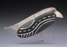 Studio Discovery Tour artist Dana Driver: Raven brooch