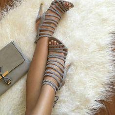 Multi Strap Braided Detailing Heels