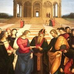 Sposalizio della Vergine, Raffaello.  So beautiful... one of the many jewels at the Pinacoteca di Brera in Milan .  .  #milano #milan #raffaello #painting #art #artist #arte #artista #italia #italy #イタリア #reinassance #pittore #brera #pinacotecadibrera #alessandrazecchini #alessandrazecchini✈️