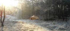 Historische foto van een De Waard tent