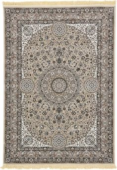 Taupe Isfahan Design Area Rug 7x9  369