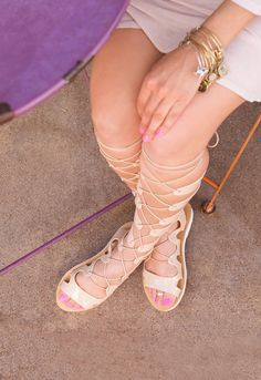 Emilia Jelly Gladiator Sandals - Nude – Shop Priceless