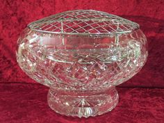 "Royal Brierley Crystal 10"" Henley Rose Bowl Discontinued 1994 - Artmosphere Antiques Battlesbridge Essex"