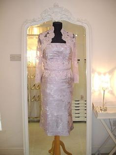 John Charles Mother Of The Bride Outfit - 25543A Heather UK12 | eBay