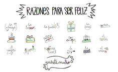 Láminas Positivas de QuiéreteMucho: Razones para ser feliz ----} @quieretemucho_