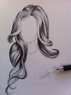haar zeichnen 38 Pencil Drawing Of Woman Man Hair Ideas hair drawing Pencil Art Drawings, Art Drawings Sketches, Cute Drawings, Hair Illustration, Hair Sketch, How To Draw Hair, How To Draw Lips, Drawing Techniques, Hair Art