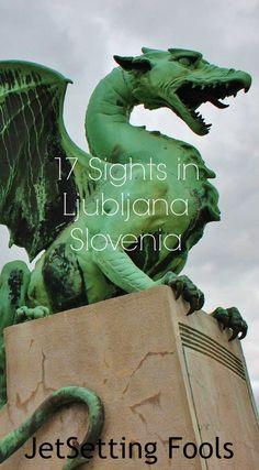 Sights in Ljubljana Slovenia