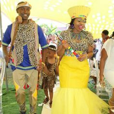 Bride and Groom dressed by ForeverFaith Couture from head to toe including accessories in Limpopo. African Wear, African Fashion, Zulu Wedding, African Weddings, Traditional Wedding Dresses, Clothing Labels, Groom Dress, Head To Toe, Weeding
