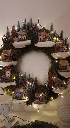 Intelligent and Low-cost Indoor Garden Ideas Pretty Christmas Trees, Christmas Is Coming, Christmas Past, Beautiful Christmas, Rustic Chr… in 2019 Christmas Tree Village, Pretty Christmas Trees, Christmas Villages, Cozy Christmas, Christmas Past, Diy Christmas Gifts, Rustic Christmas, Christmas Projects, Beautiful Christmas