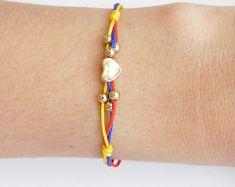 Pulsera de Colombia, Colombian Bracelet, Bracelet, Flag of Colombia Bracelet.